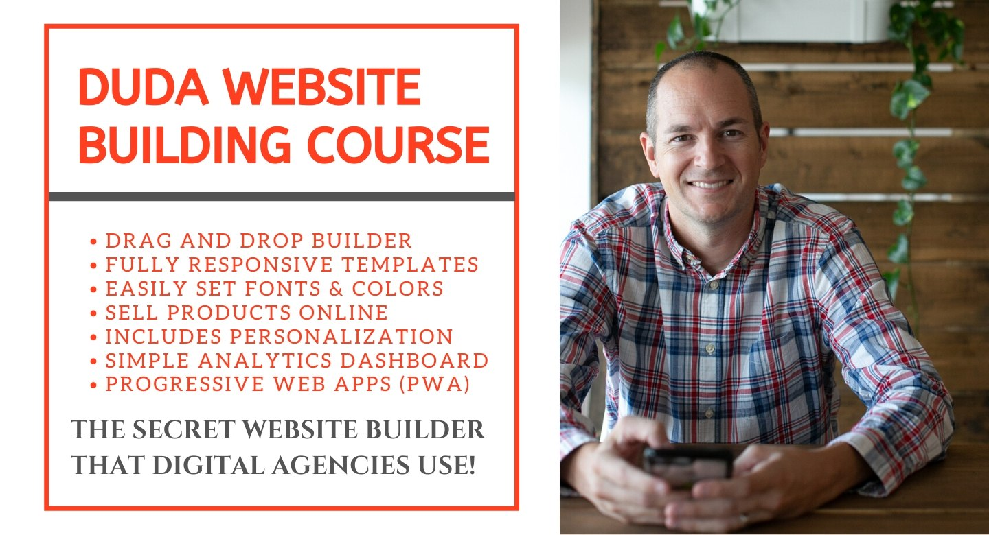 duda website design course for beginners and intermediate website builders and small business owners