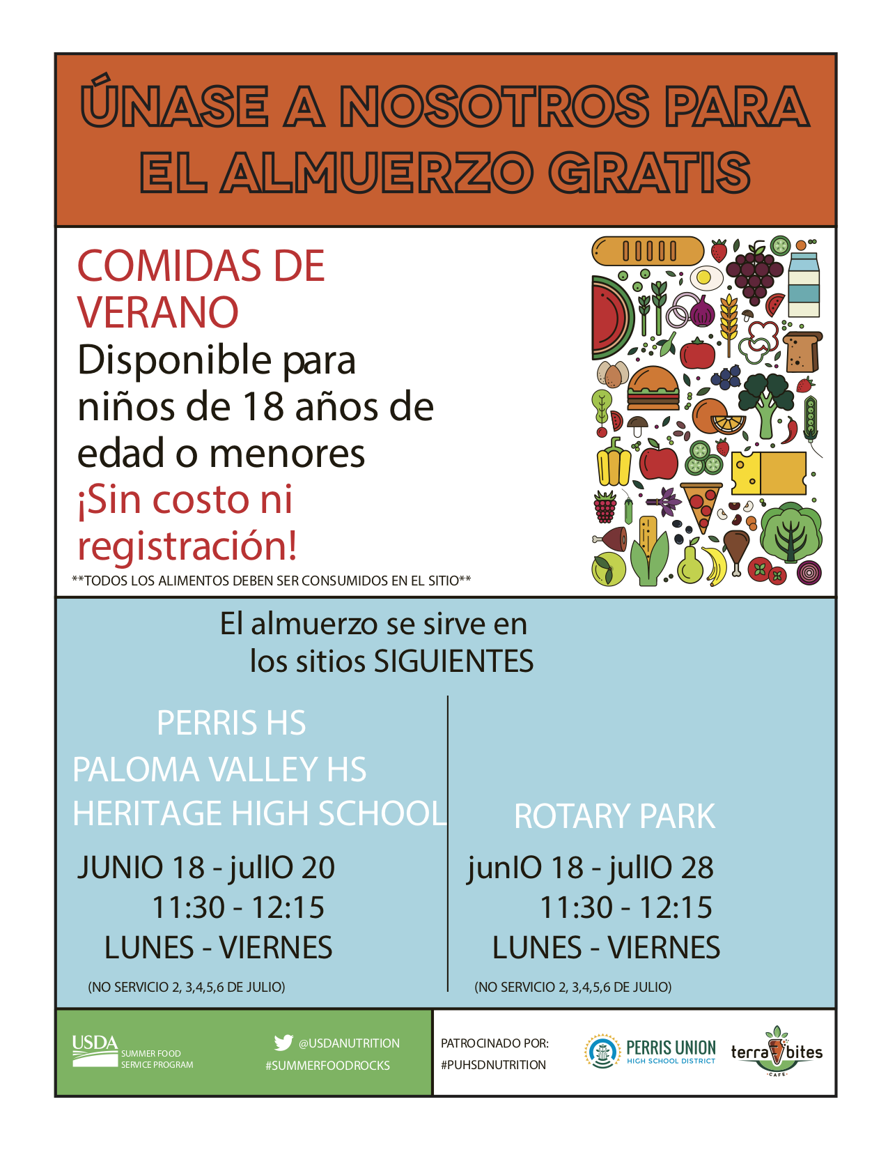 Summer Flyer 2018 Spanish
