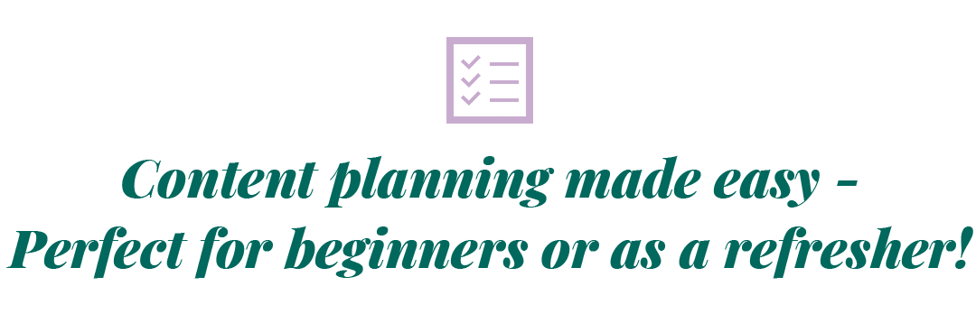 Content planning made easy - perfect for beginners or as a refresher!