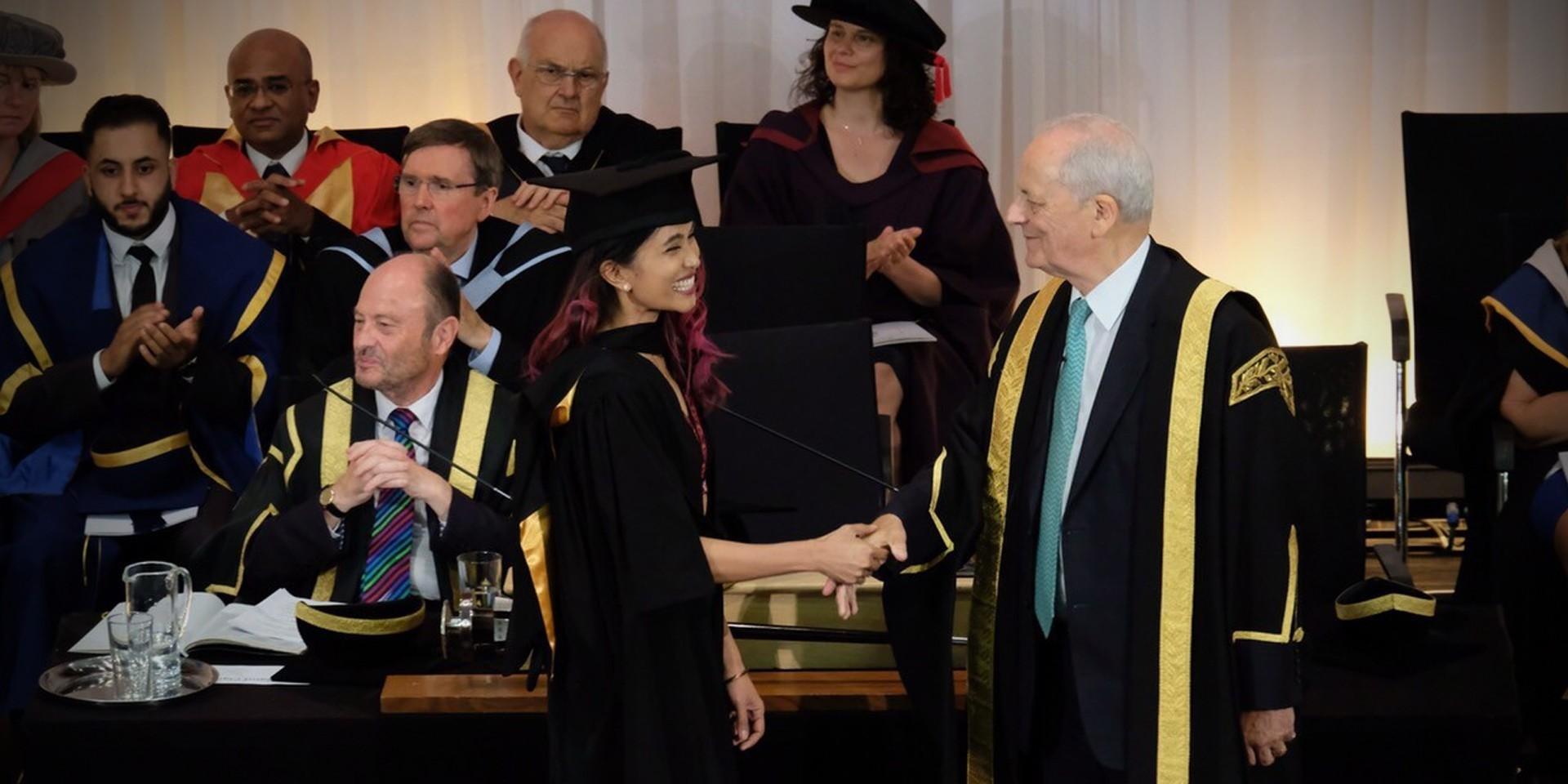 Moonstar88's Maysh Baay graduates with honors from Bradford University
