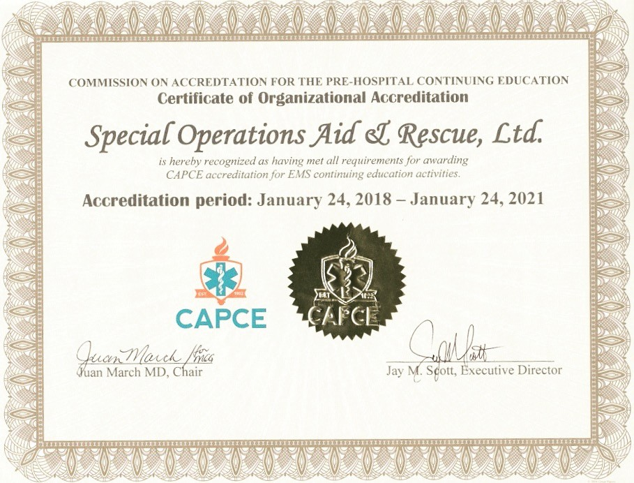 SOARescue CAPCE Accredited Organization