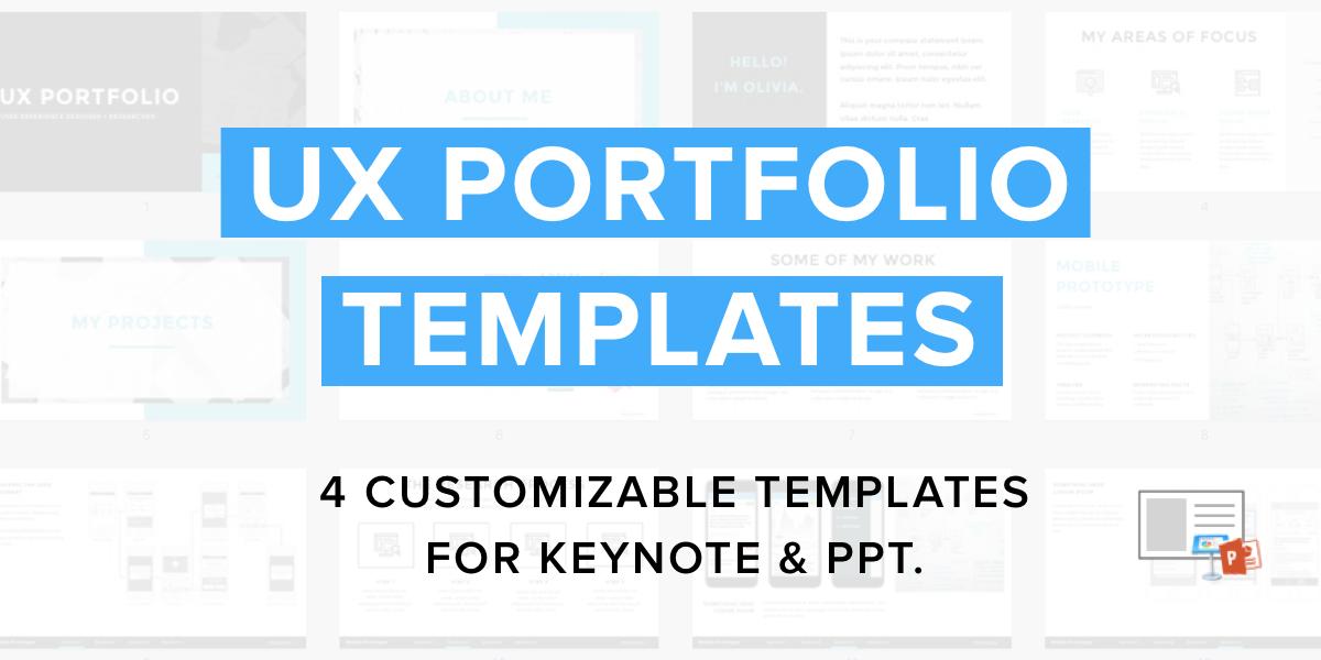 ux portfolio templates the ux academy