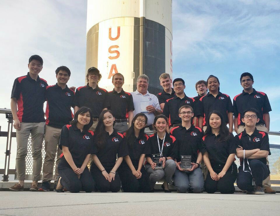 Cornell Rocketry Team members on a tour of Marshall Space Flight Center