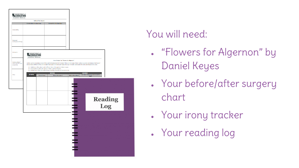 flowers for algernon essay questions