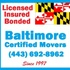 Baltimore Certified Movers | Parkton MD Movers