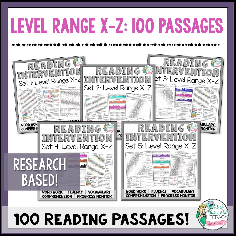 Reading intervention program sets x z jen bengel geenschuldenfo Choice Image