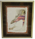 """Evelyn"" by RC Gorman. #141/200 Framed Lithograph."