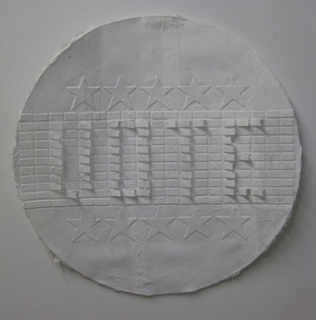 "image: Embossed Handmade paper (cotton) 24"" diameter ~ 2008"