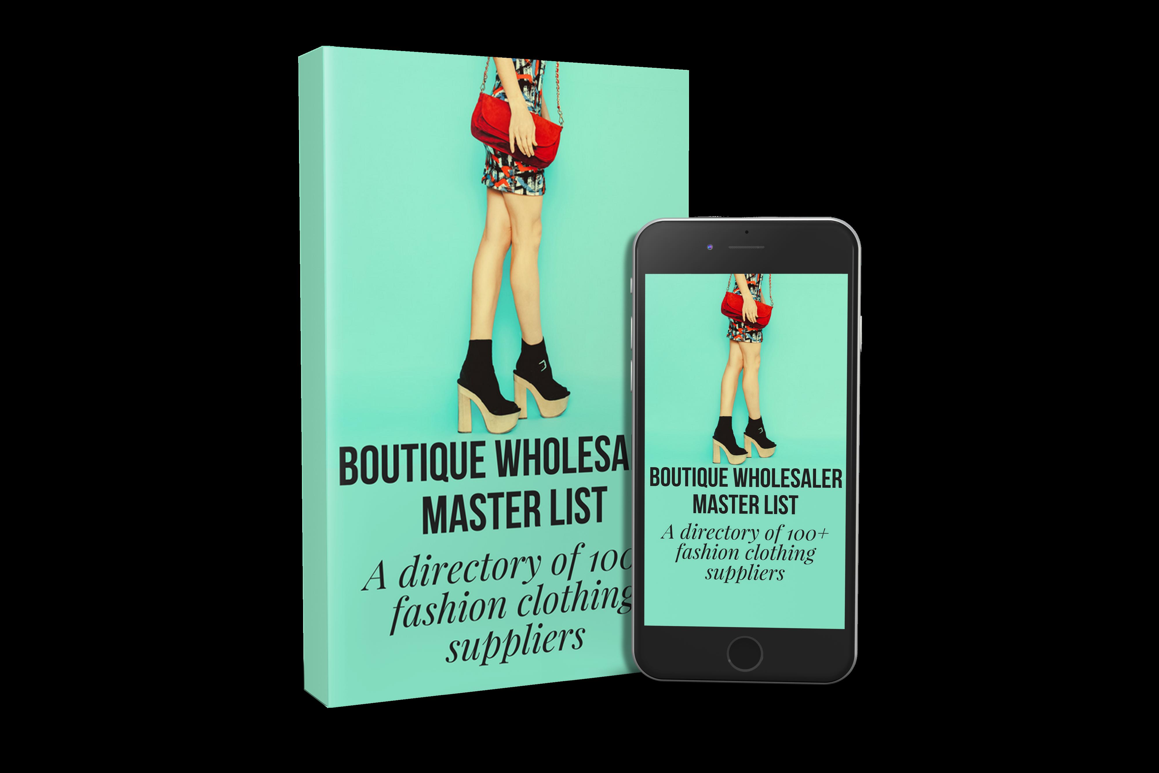 Boutique Clothing Wholesalers List