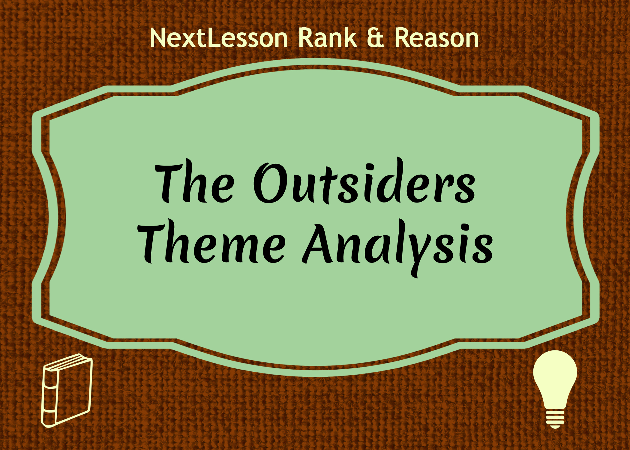 essay on the outsiders themes In 'the outsiders' by se hinton, the major theme surrounds the conflict between  the social classes, but there are other underlying themes as.