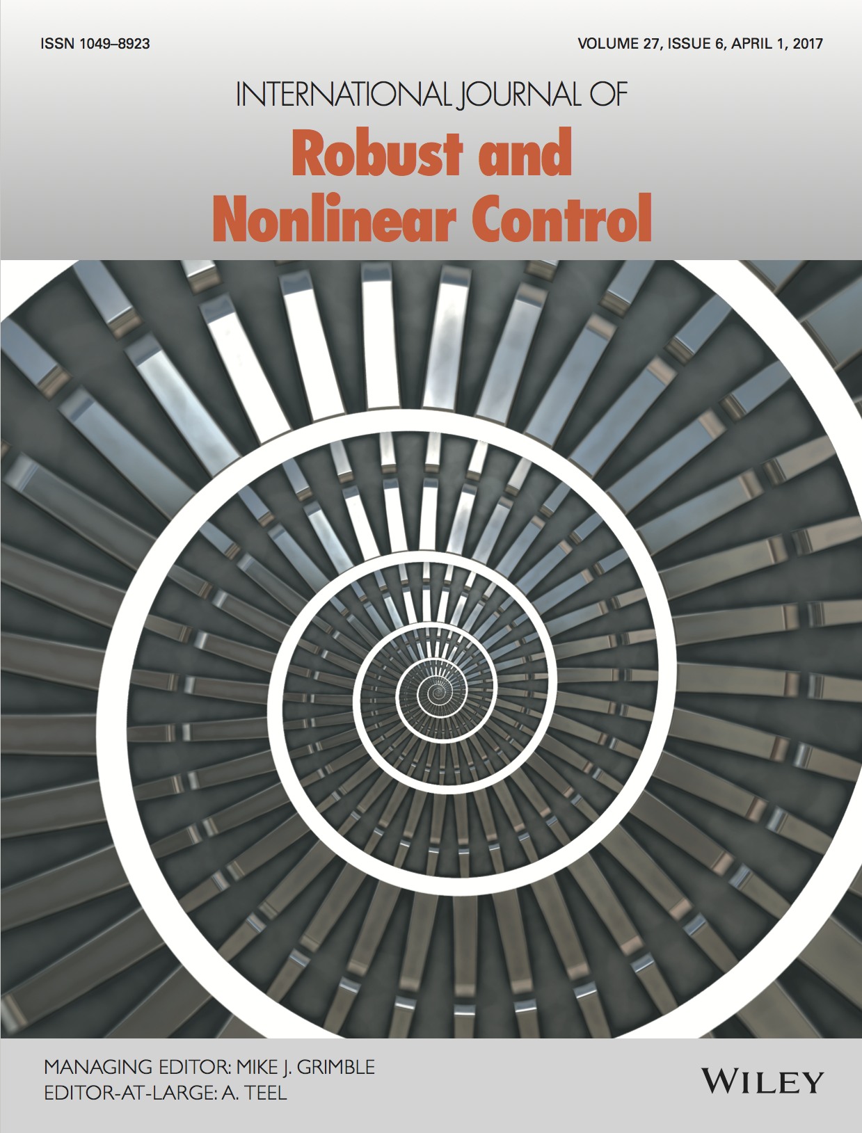 Template for submissions to International Journal of Robust and Nonlinear Control