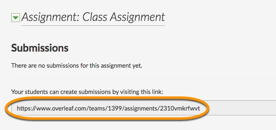 link for sharing assignment