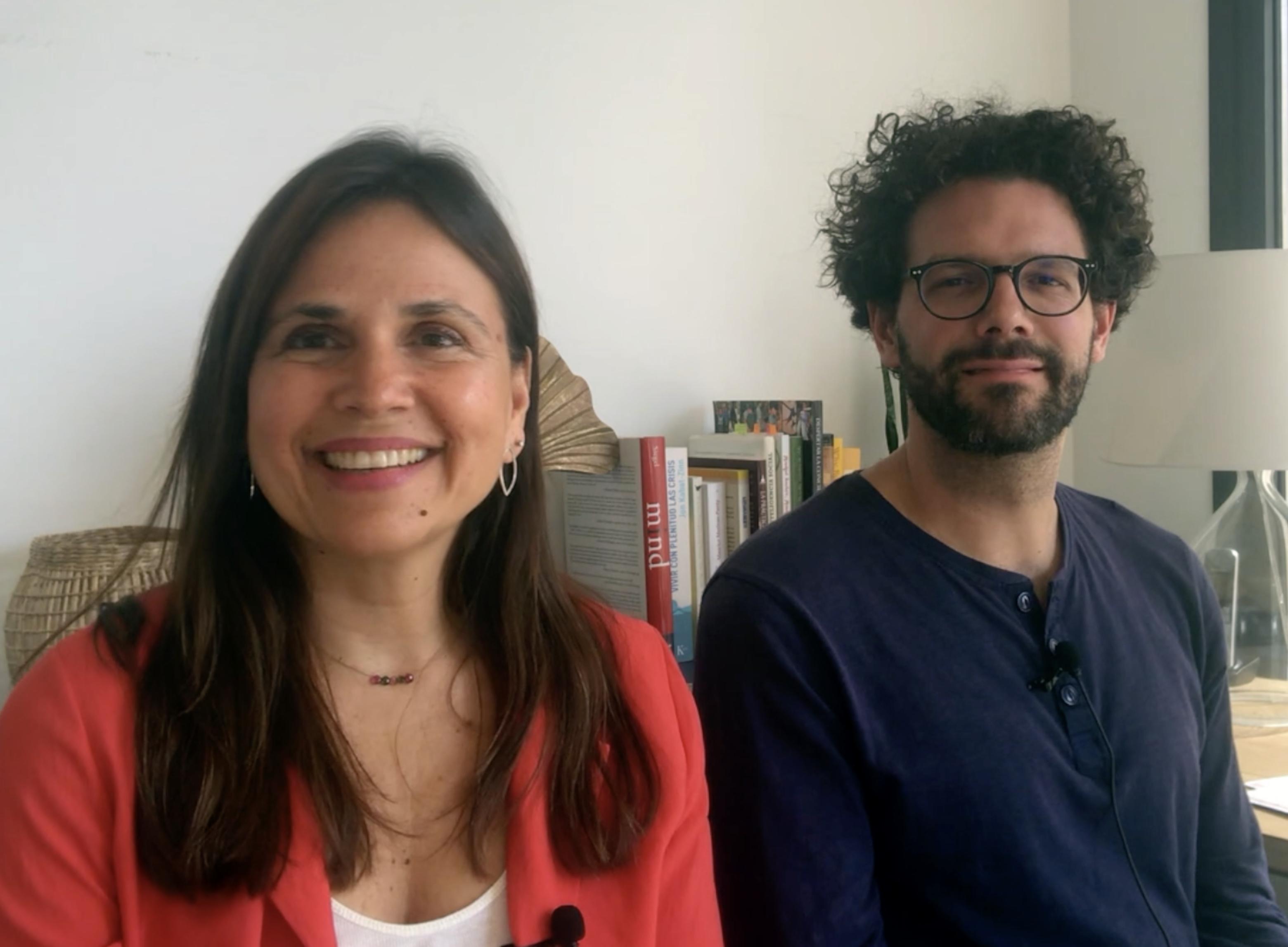 Nuño Aguirre y María de Mena del Equipo de MindEdu