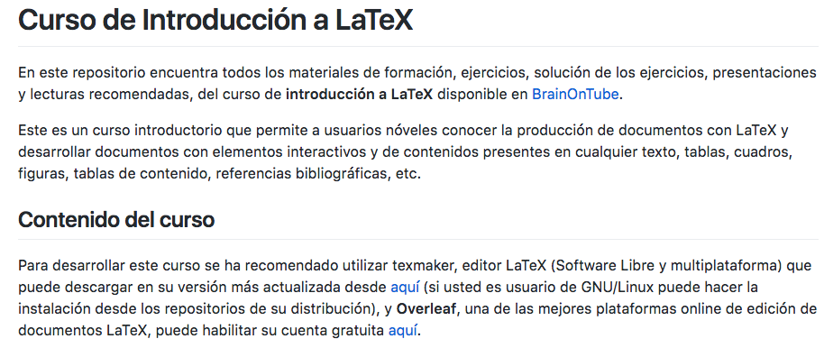 Spanish Language Latex Course Available Overleaf Online Latex Editor