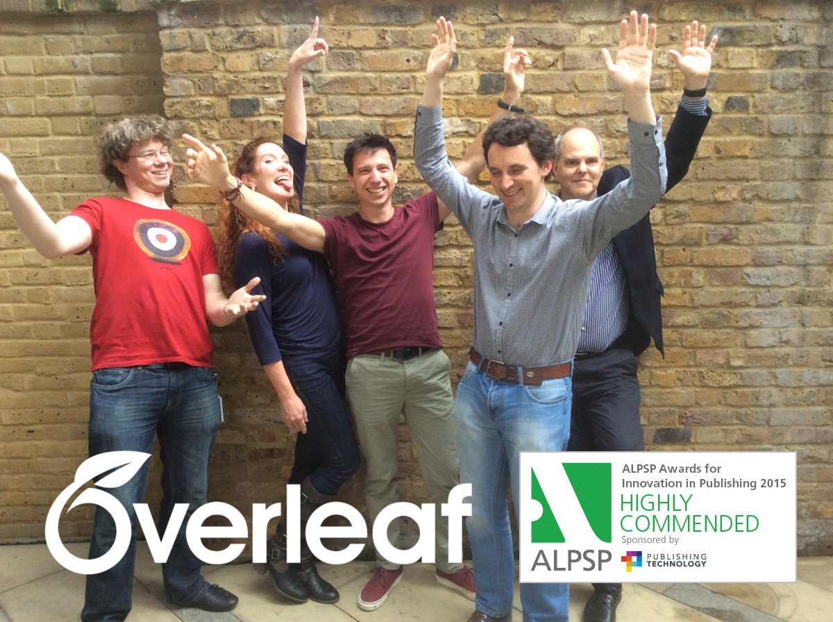 A very happy Overleaf team alpsp15