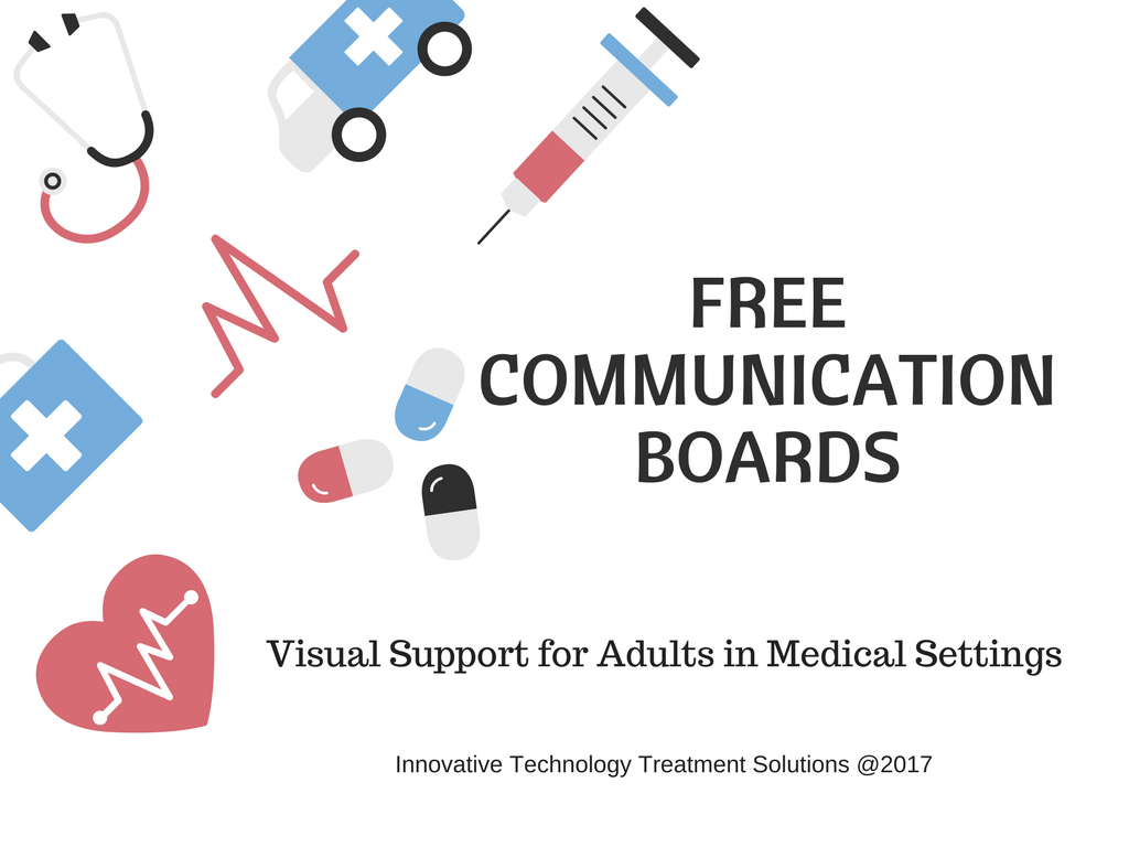 Downloadable Communication Boards For Adults In Health Care Settings