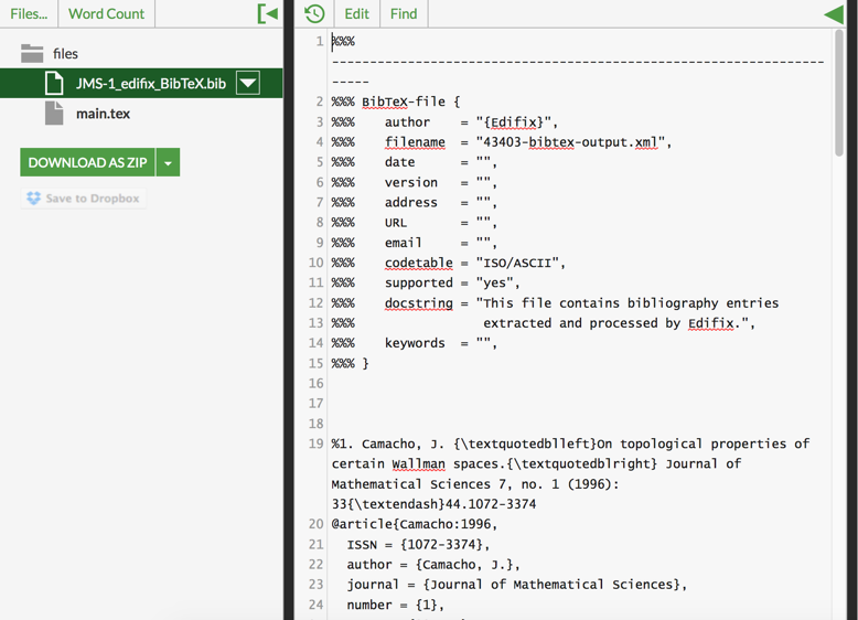 Add the file to your Overleaf project