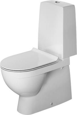 DuraStyle 655X360 mm toalett gulvstående, nordisk modell
