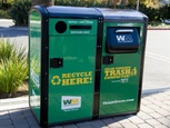 Solar powered trash compacting & recycling units