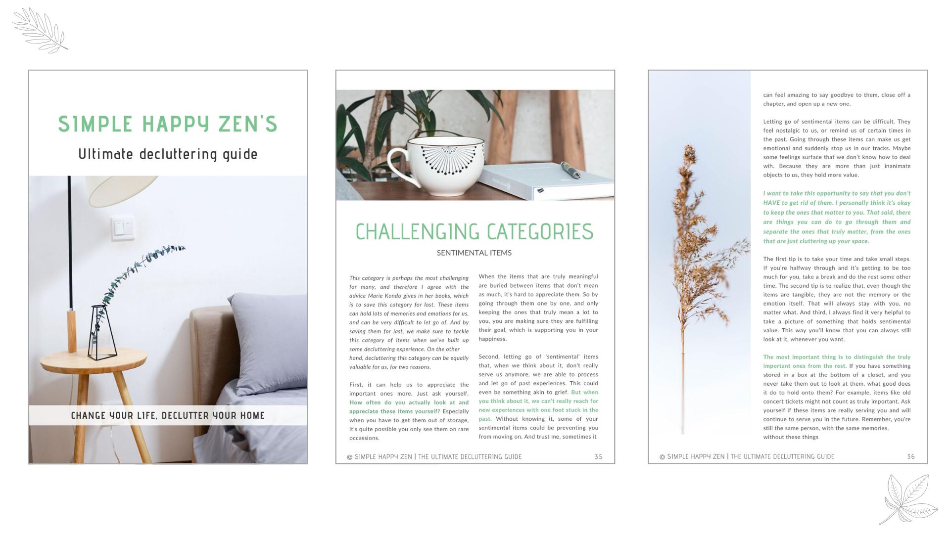 simple happy zen decluttering minimalism