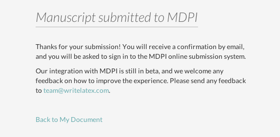 WriteLaTeX MDPI publish submission screenshot 4