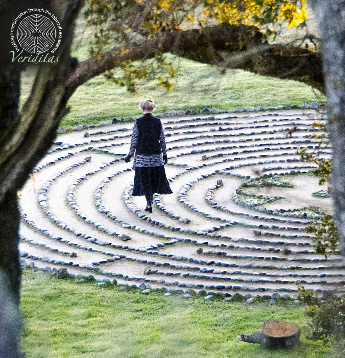 Walking the Labyrinth, photo by Lars Howlett of discover labyrinths.com