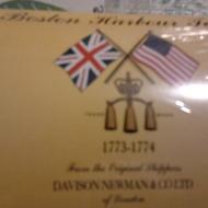 Boston Harbour Tea from Davison Newman & Co., Ltd. of London