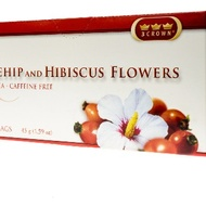 Rosehip and Hibiscus Flowers from 3-Crown