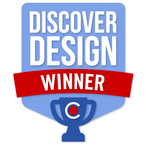 Badge for 2016 National DiscoverDesign Competition - Winner