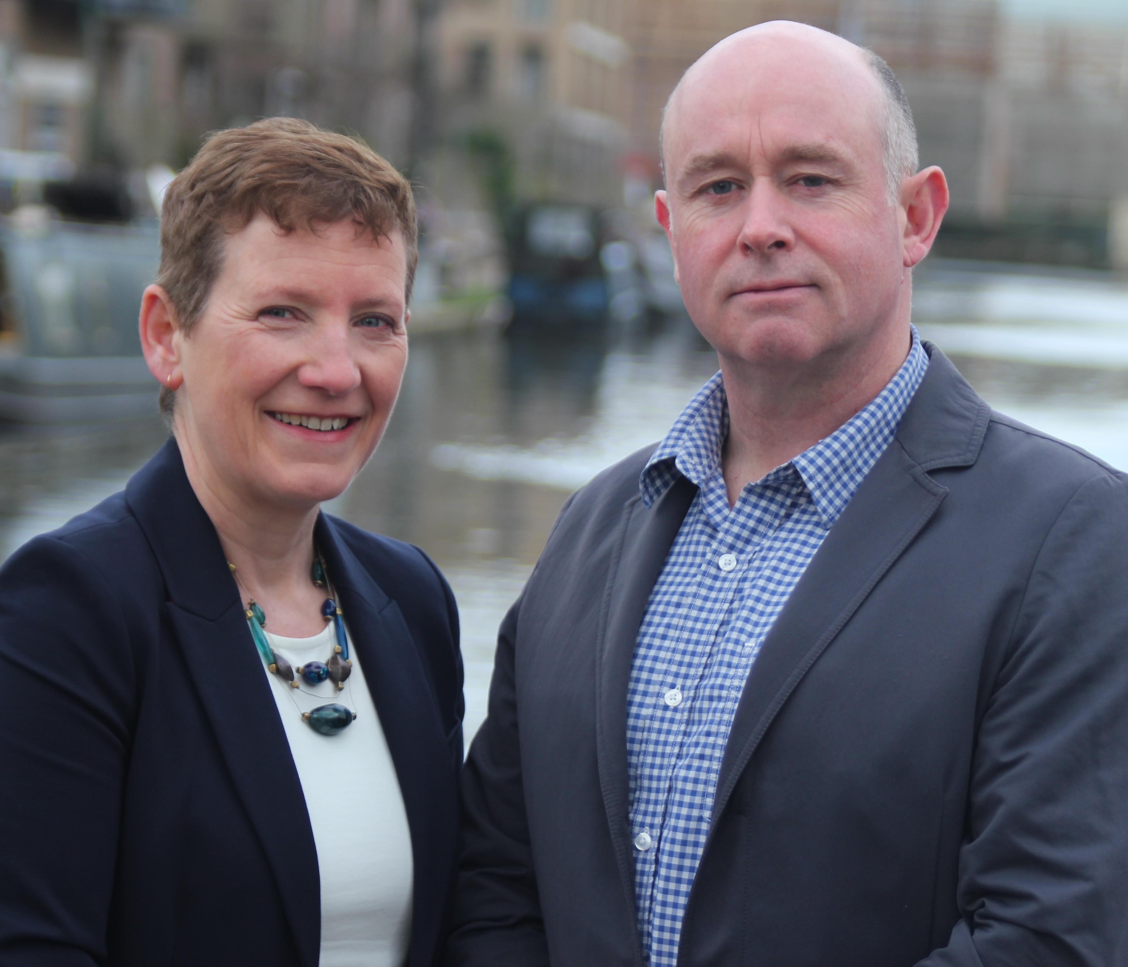 Judy Rees and Steve McCann
