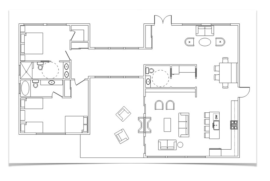 Draw a floor plan with furniture in sketchup sketchup Sketchup floorplan