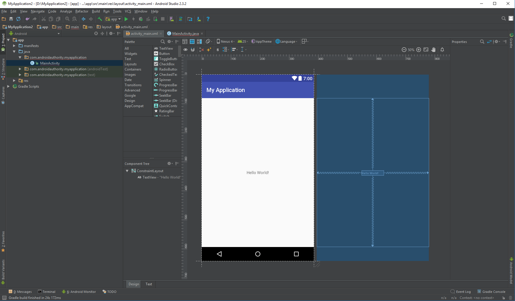 Android Studio Hello World  - s5ZCoAUeSjhzIkFFSoBa - Installing Android Studio and Starting Your First App Project