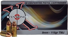 TEN X RING AMMO TEN X RING AMMO 9MM 115GR. FMJ 500 ROUNDS .01 SHIPPING