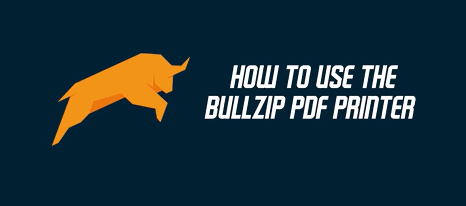 Downloading and installing the bullzip PDF Printer | bullzip PDF