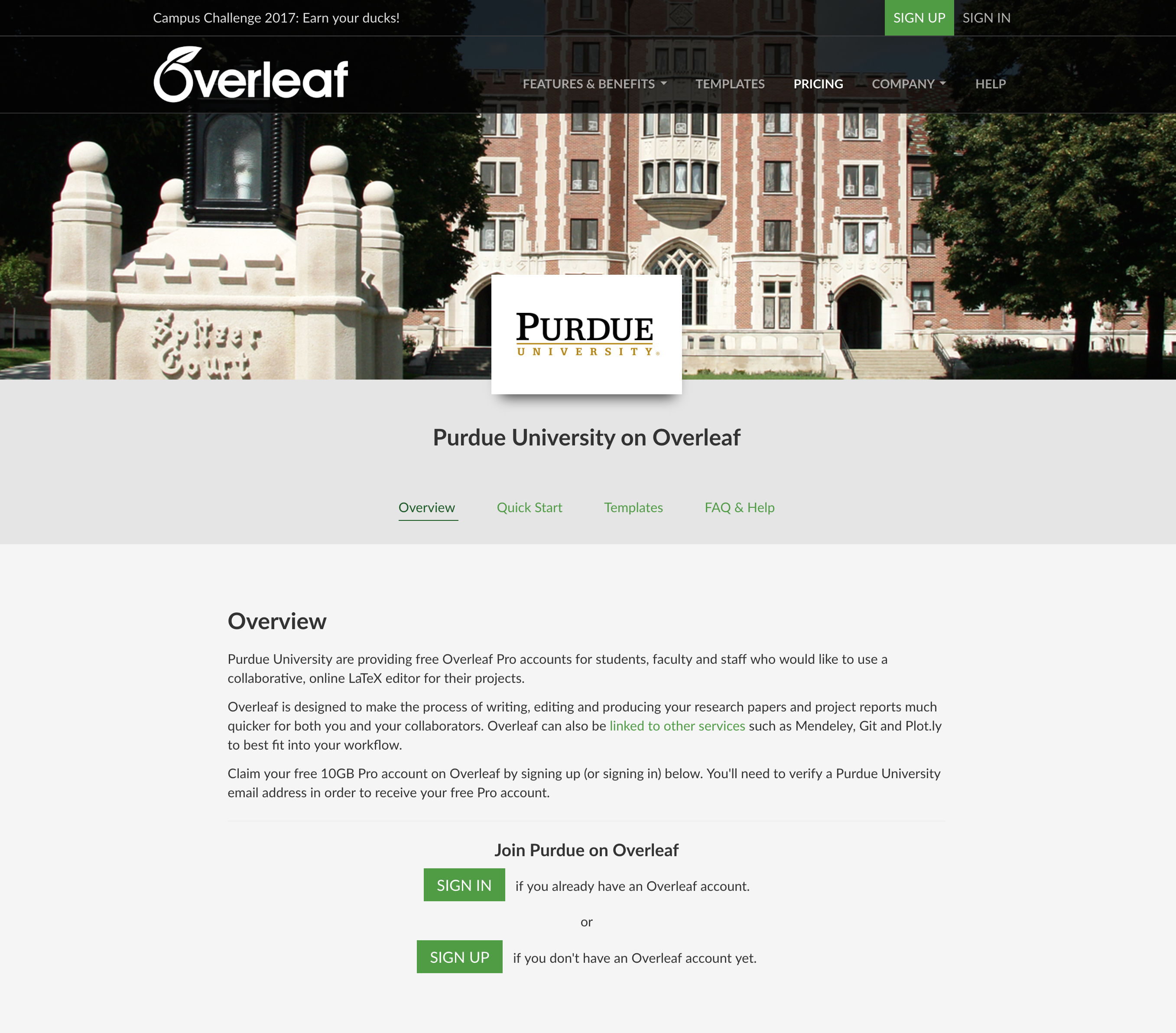 Purdue Institutional Portal