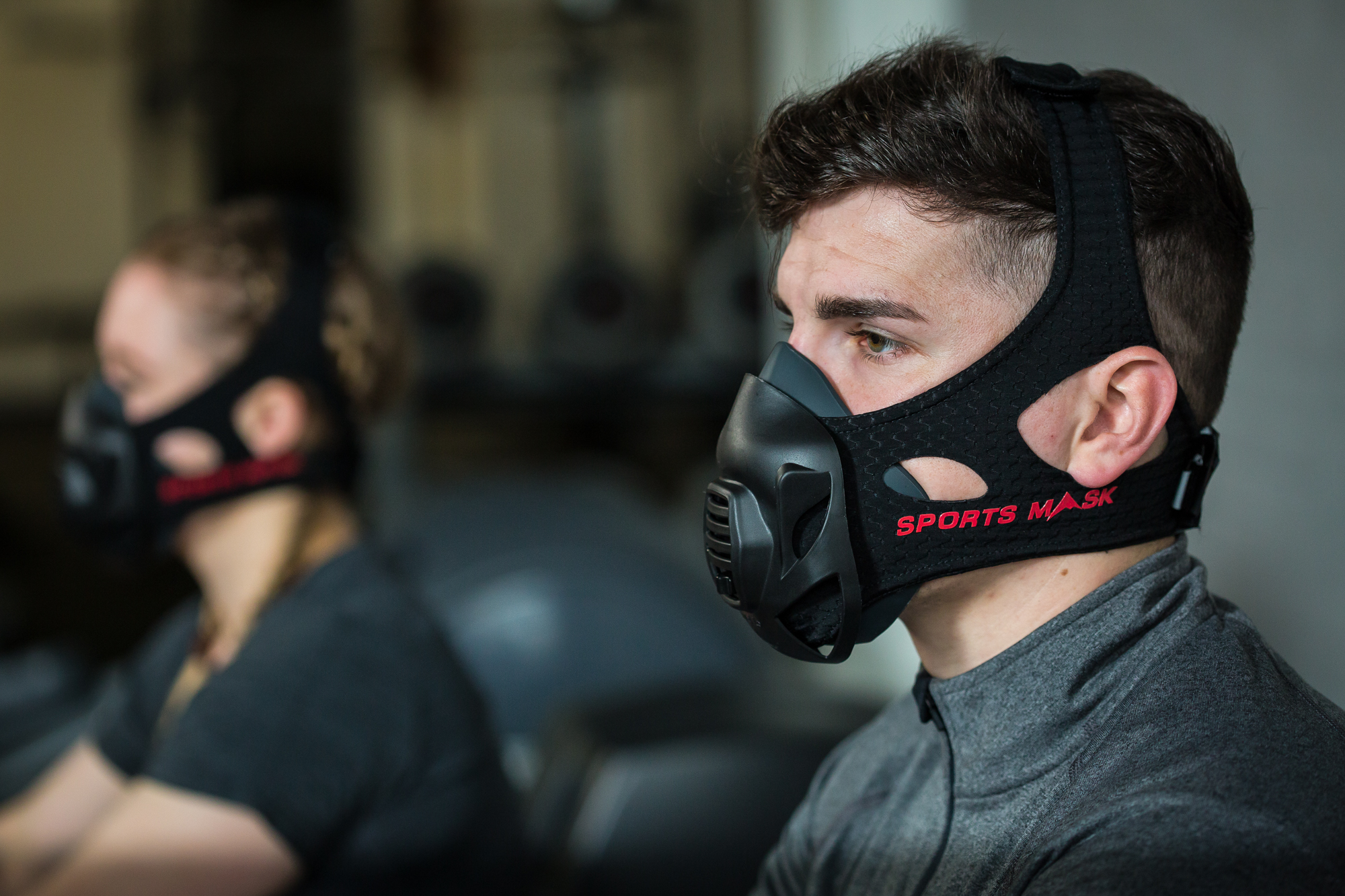 Athletes wear sports masks to improve their breathing
