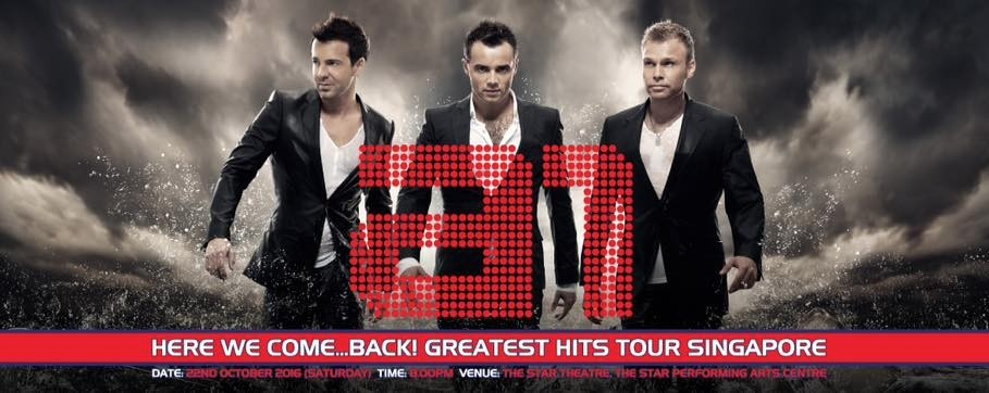 A1 Here We Come Back! Greatest Hits Tour Singapore