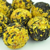 Osmanthus Flower and Yi Mei Ren Black Tea Dragon Ball from Yunnan Sourcing