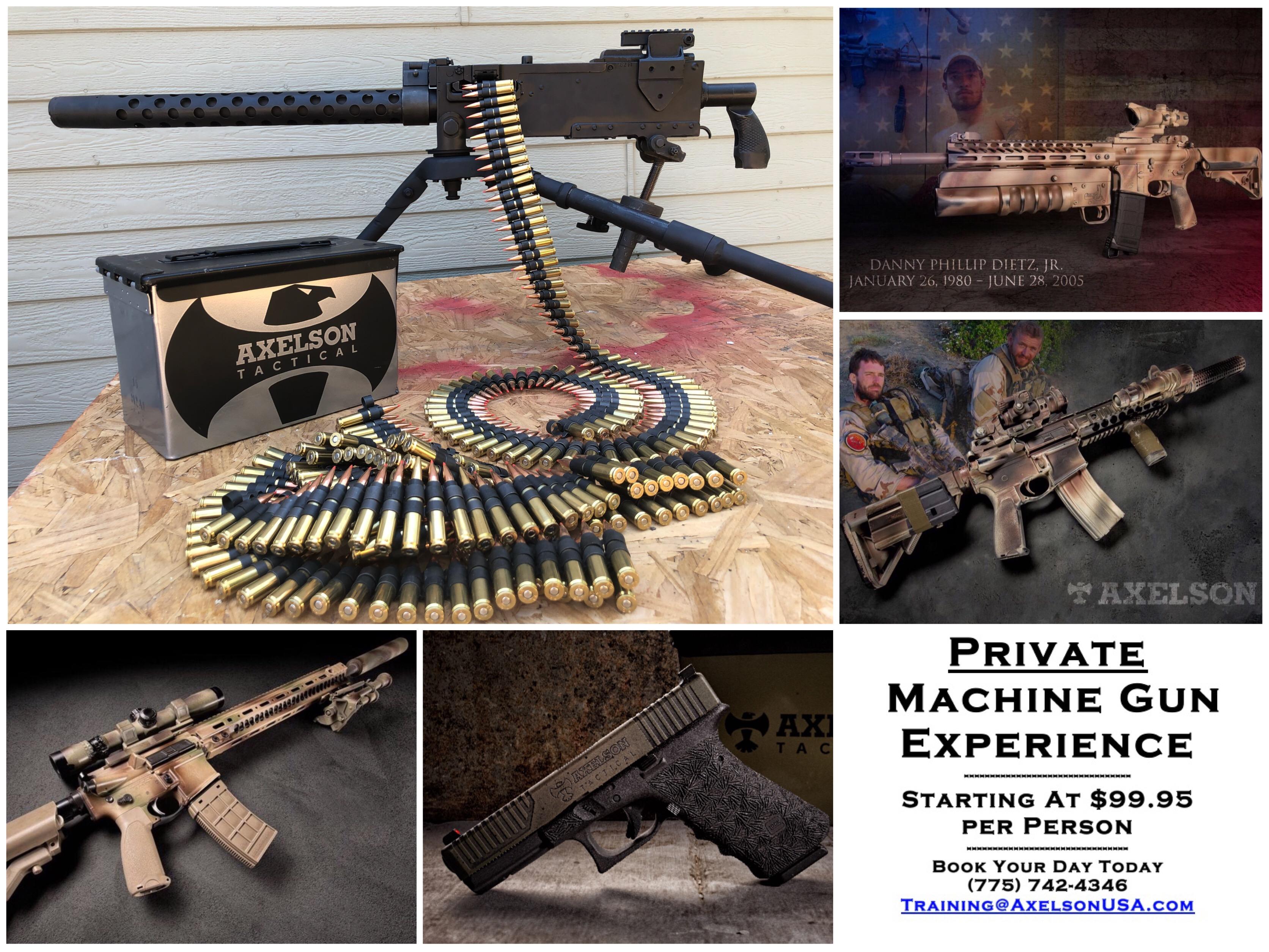 Axelson AXELSON Machine Gun Experience | Axelson USA