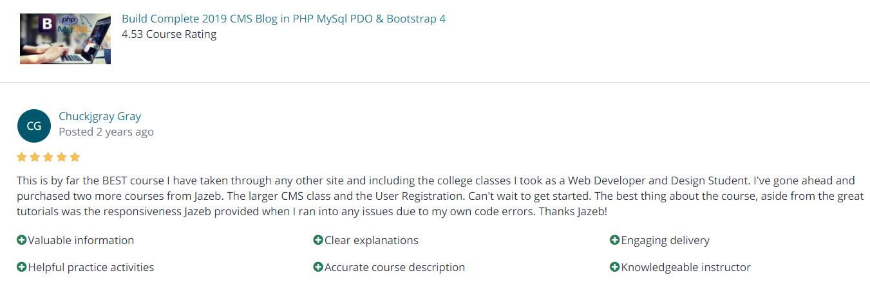CMS Course Review
