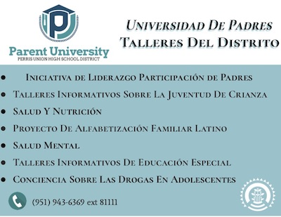 Parent University Banner SP