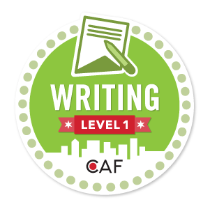 Badge for Writing - Level 1
