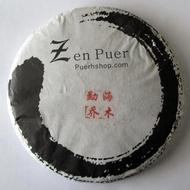 2014 Zenpuer 1406 Menghai Qiaomu Green Pu-erh Tea Cake 357g from Puerh Shop