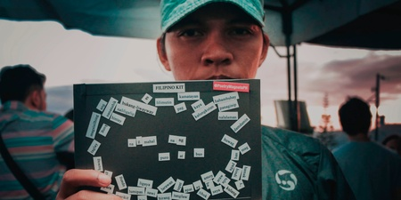 PHOTO GALLERY: Bullet Dumas, Tom's Story, crwn, and more artists have some fun with Poetry Magnets to tell us about their Tagaytay Art Beat experience