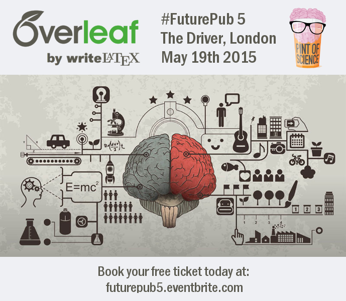 Overleaf futurepub 5 event logo May 19th
