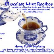 Chocolate Mint Rooibos Tea from Home Farm Herbery
