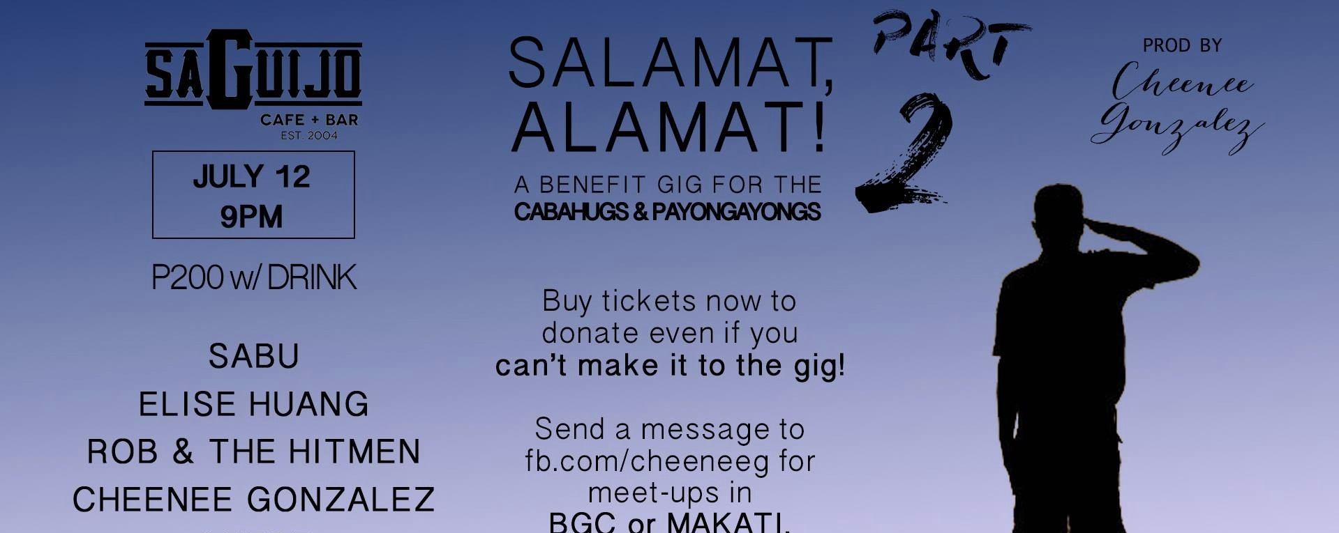 Salamat,Alamat! 2: A Benefit Gig for the Cabahugs & Payongayongs