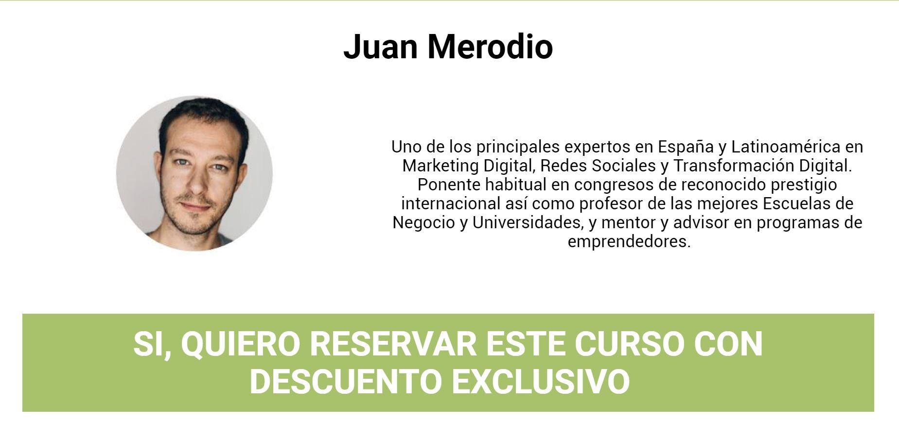 Juan Merodio Curso de Experto en Marketing Digital [Español]