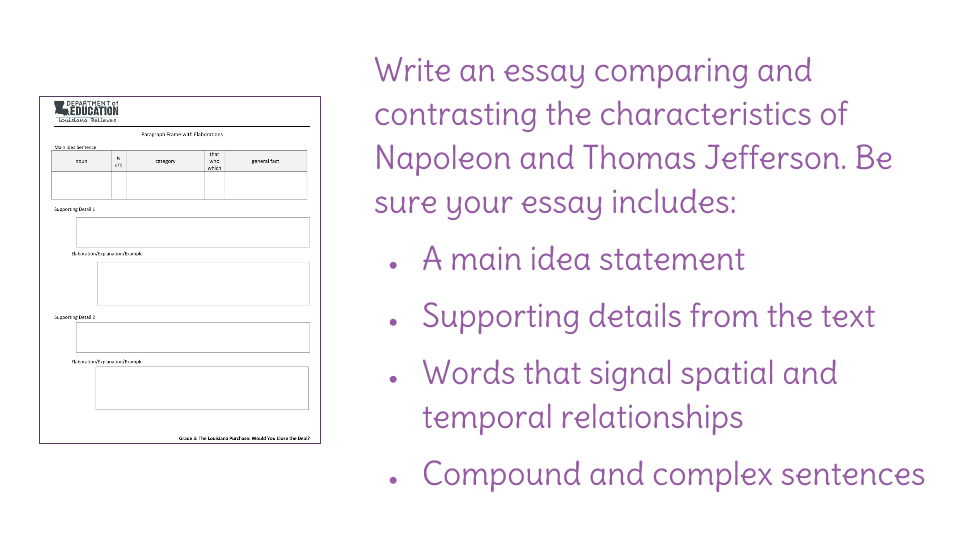 writing a compare and contrast essay lesson plan Teaching the compare contrast essay use these great steps to help your  students write excellent compare/contrast essays  follow this lesson plan for  teaching face value learn something new every day.