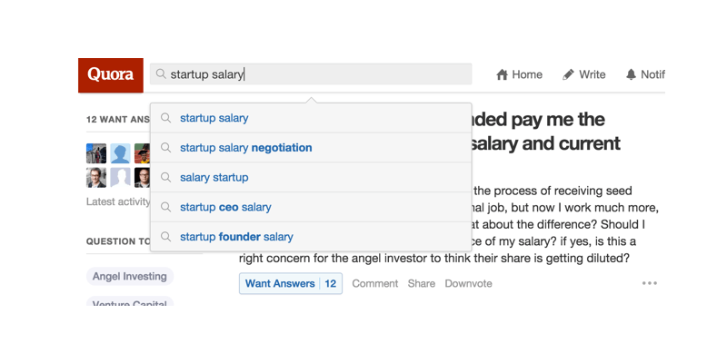 Quora Startup Salary